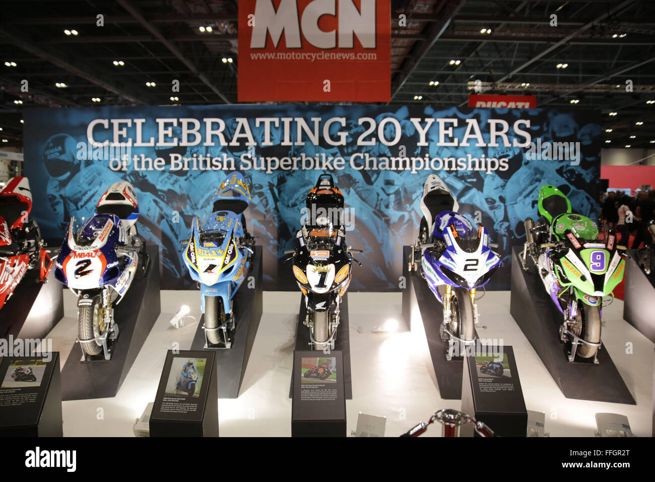 ExCeL, London, UK. 13th Feb, 2016. MCN London Motorcycle Show Credit:  Jason Richardson/Alamy Live News ExCeL, London, - Stock Image