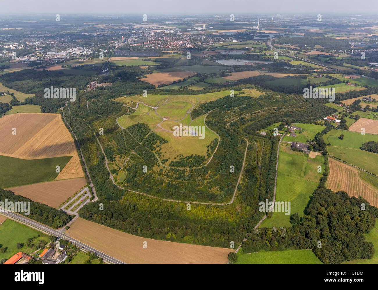 Aerial view, Halde Nord Germany, Neukirchen, Lower Rhine, North Rhine-Westphalia, Germany, Europe, Aerial view, - Stock Image