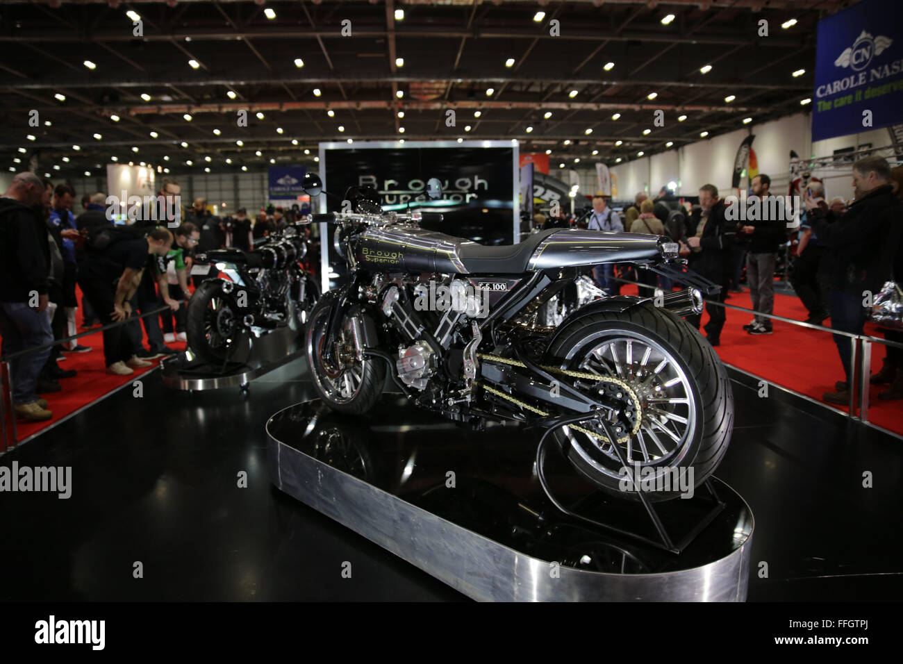 ExCeL, London, UK. 13th Feb, 2016. MCN London Motorcycle Show Credit:  Jason Richardson/Alamy Live News MCN London - Stock Image