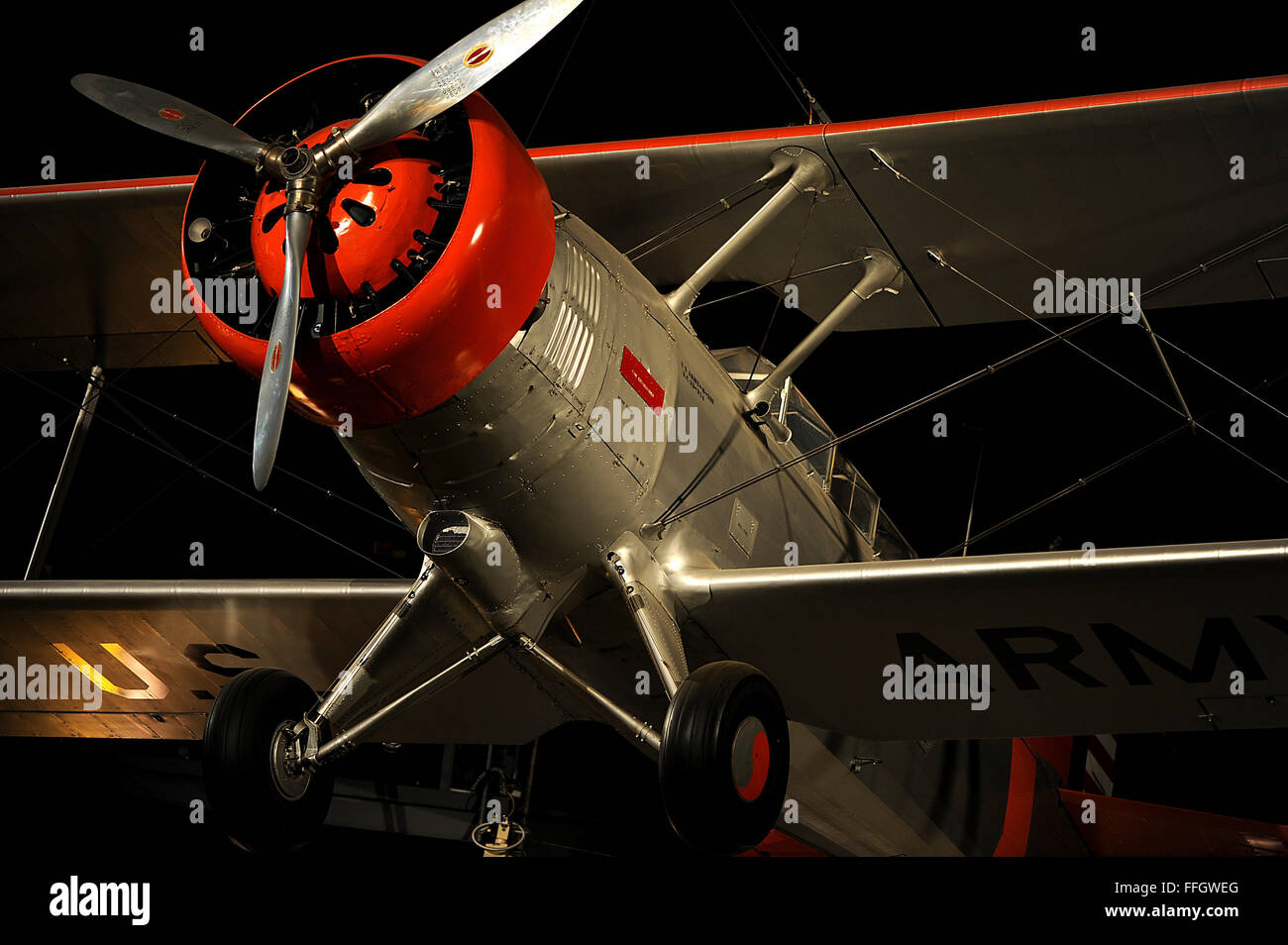 Despite being one of the Army Air Corps' best known and most versatile airplanes during the 1930s, the O-38 - Stock Image