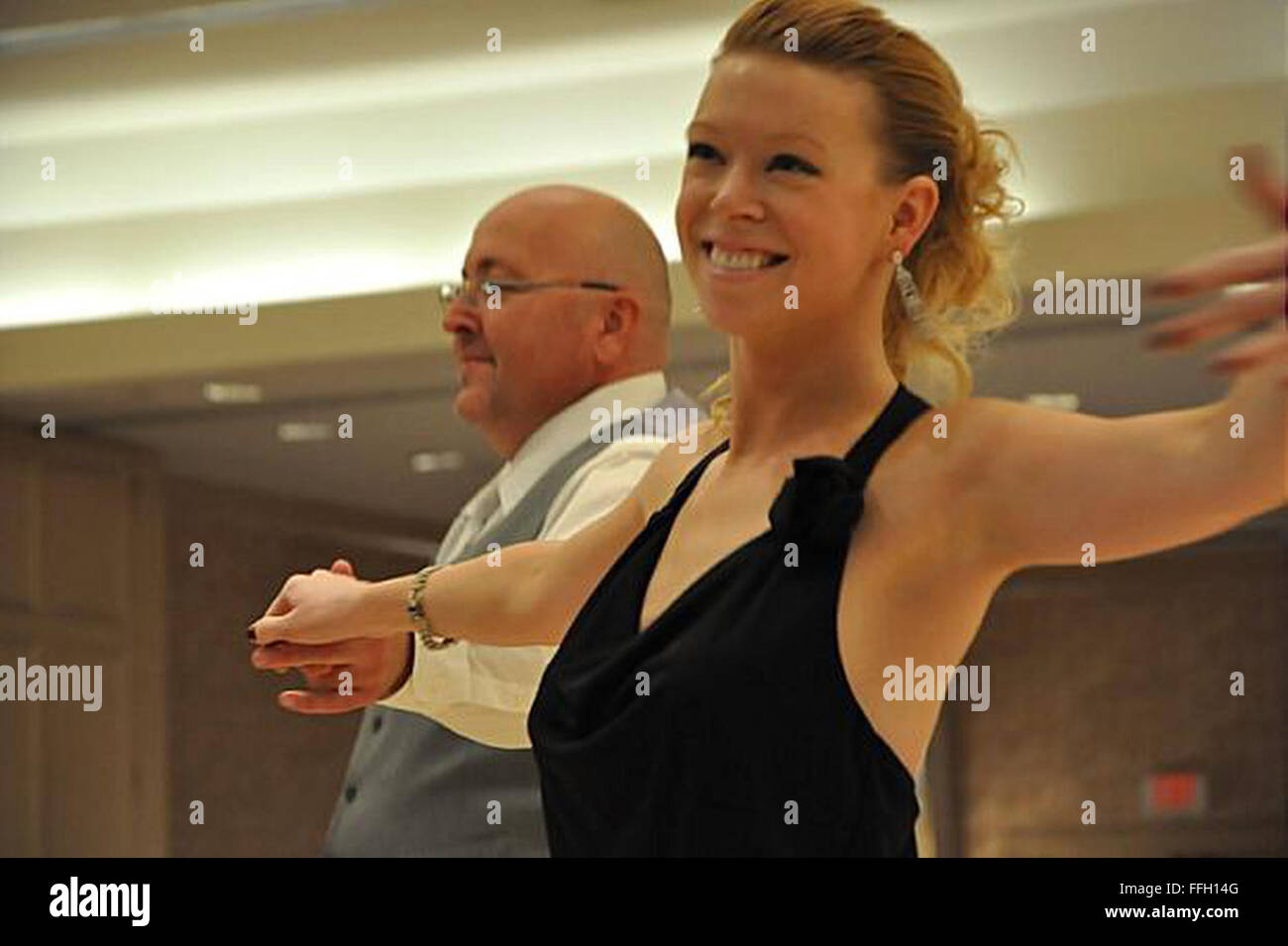 Adrianne Haslet-Davis is a professional dance instructor with the Arthur Murray dance studio in Boston. - Stock Image