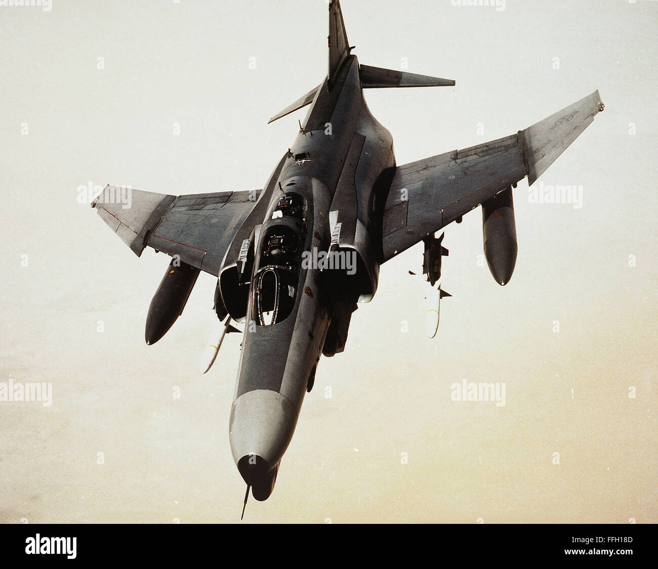 The F-4G was used against Iraqi military radar sites during Operation Desert Storm in 1991 and in follow-on strikes. - Stock Image