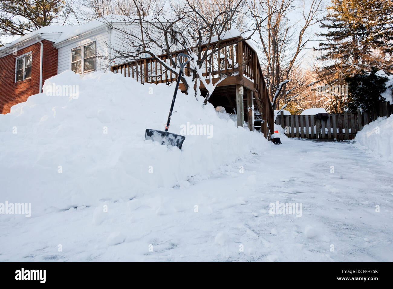Shovel Snow Pile High Resolution Stock Photography and Images - Alamy