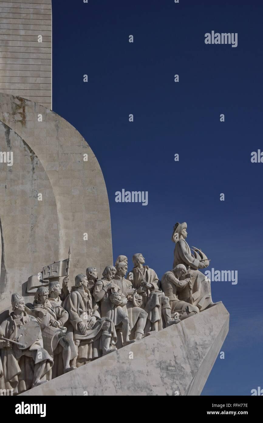 Padrão dos Descobrimentos , Discoveries monument in Lisbon, Portugal - Stock Image