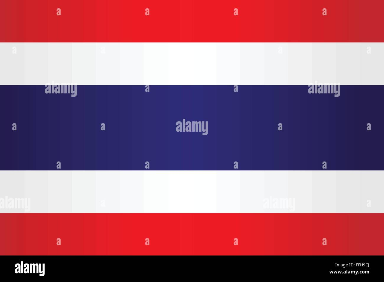 The Red White And Blue Striped Flag Of Thailand Stock Vector Art
