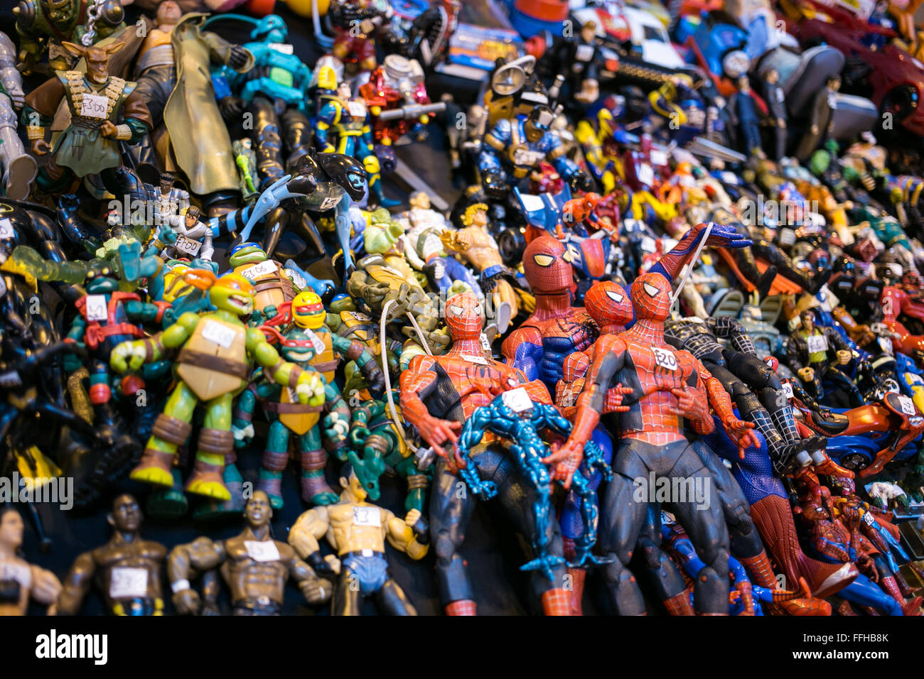 Birmingham, UK. 14th Feb, 2016. Toy Collectors Fair where people can buy antique and new collectable toys. Credit: - Stock Image