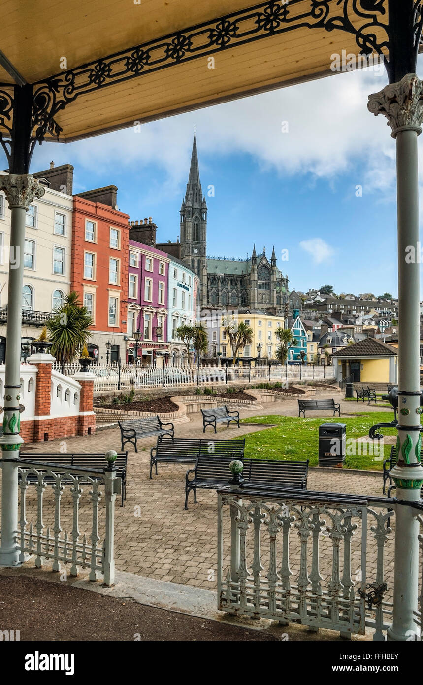 White Star Line Parade Grounds at Cobh harbor, Cork, Ireland  | White Star Line Parade Grounds im Hafen von Cobh, - Stock Image