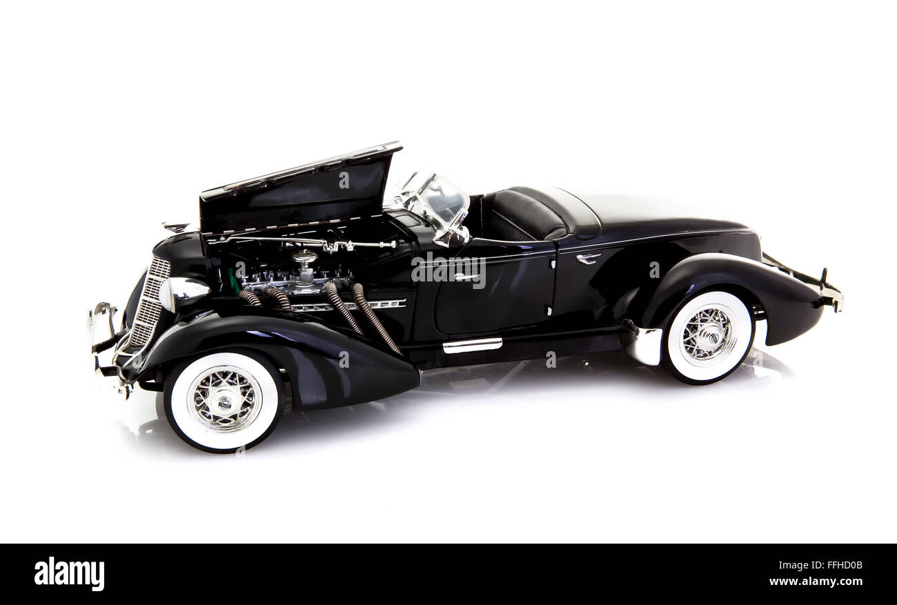1935 Auburn 851SC Boattail Speedster, Made by the Auburn Automobile Company. - Stock Image