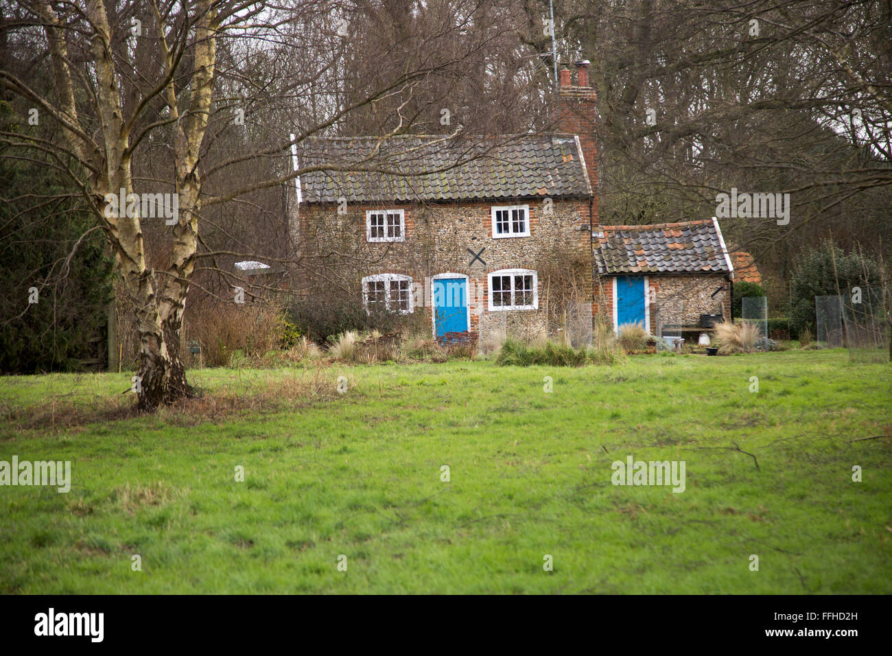Rural Cottage In The Woods Shottisham Suffolk England UK