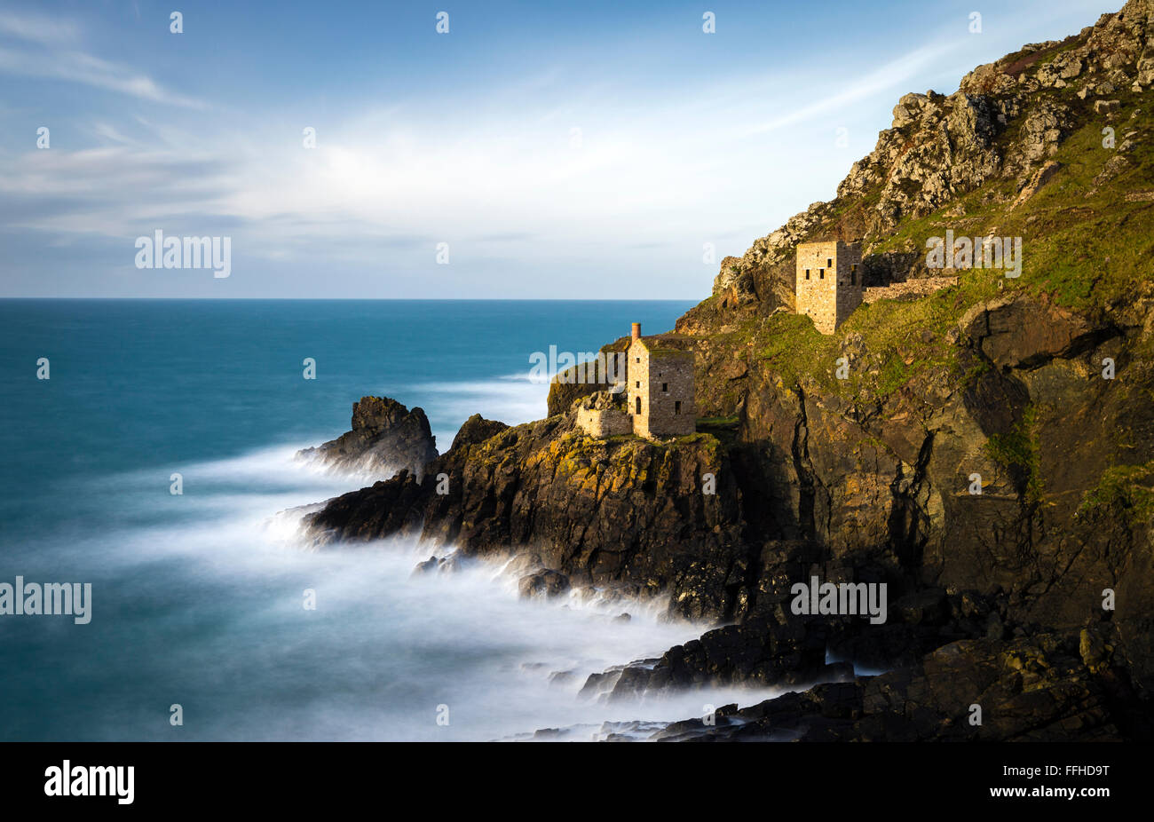 The Crown Mines at Botallack, Cornwall. - Stock Image