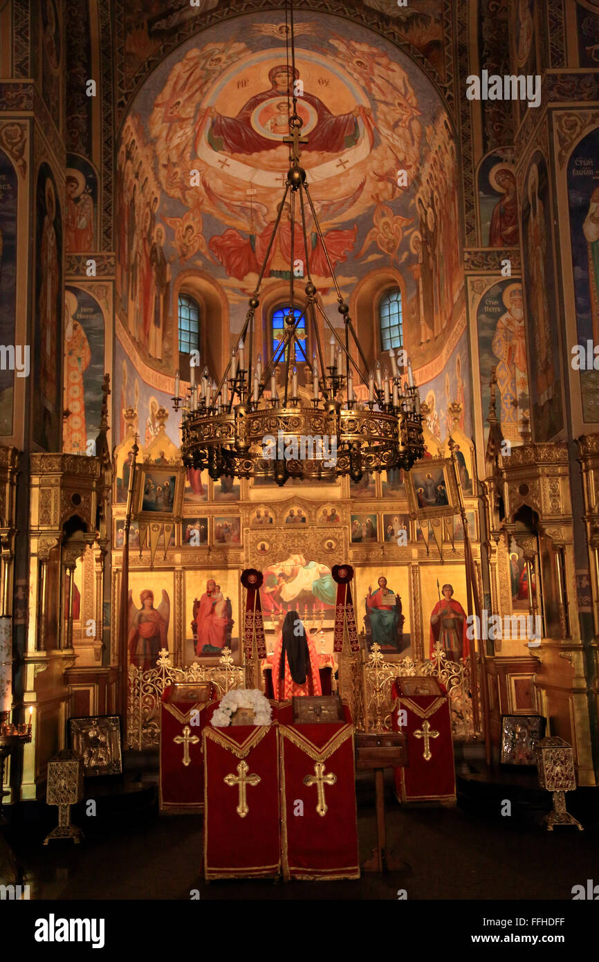 Shipka Memorial Church, Bulgarian Orthodox church, Shipka, Bulgaria, eastern Europe - Stock Image