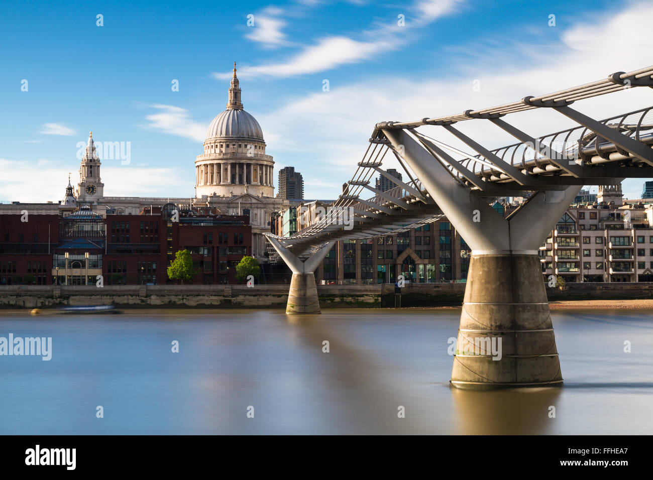St.Pauls cathedral - Long Exposure version, London, England - Stock Image
