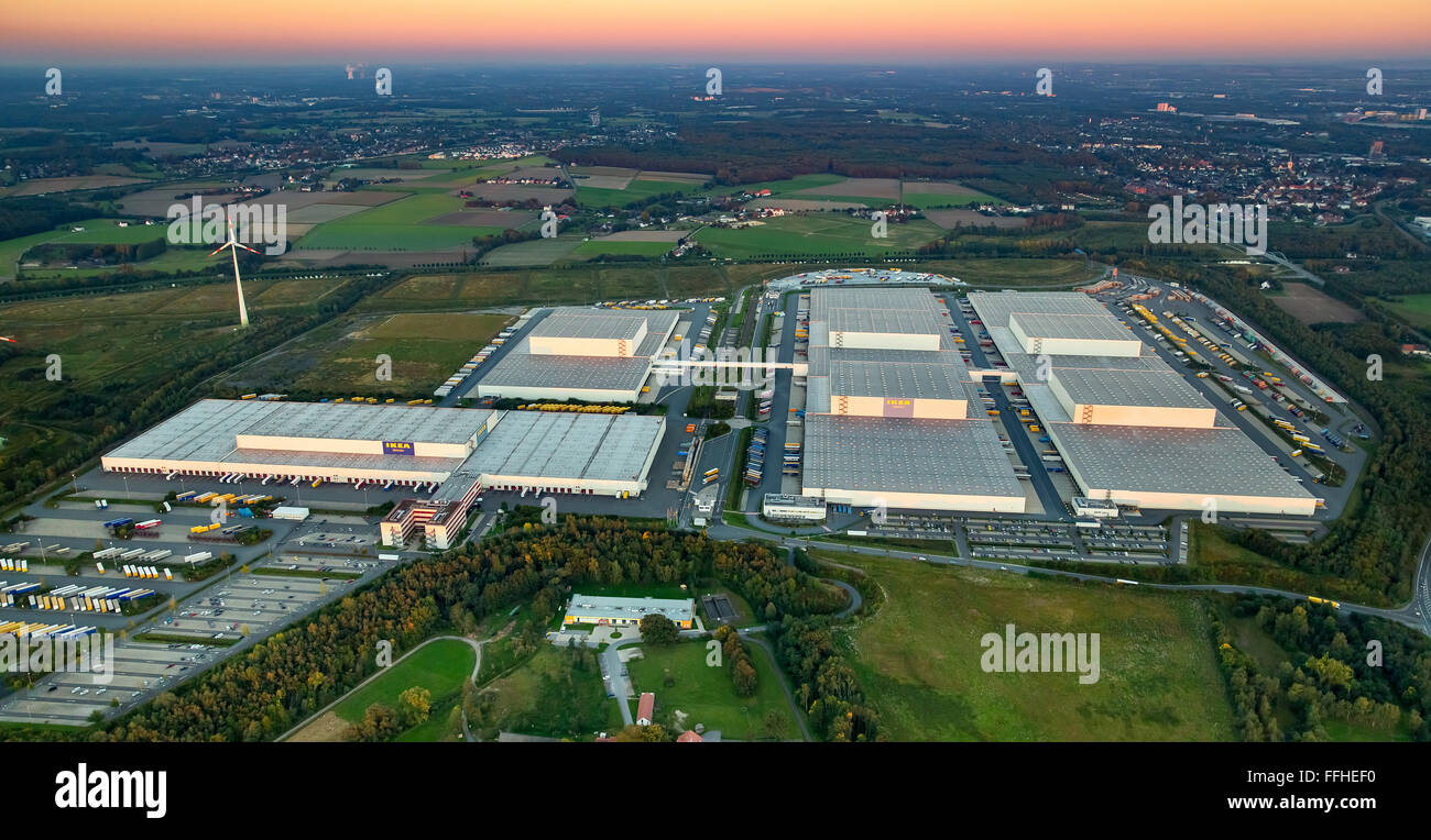 aerial view ikea logistics center dortmund ellingshausen furniture stock photo 95656260 alamy. Black Bedroom Furniture Sets. Home Design Ideas