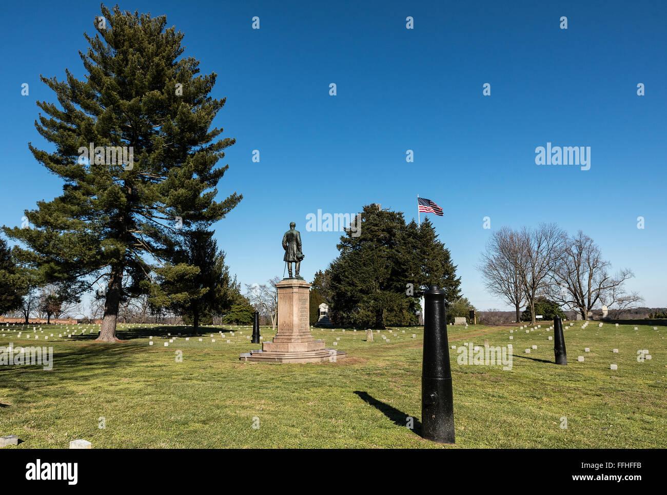The Humphreys' Division Monument, Fredericksburg National Military Park, Fredericksburg, Virginia, USA - Stock Image