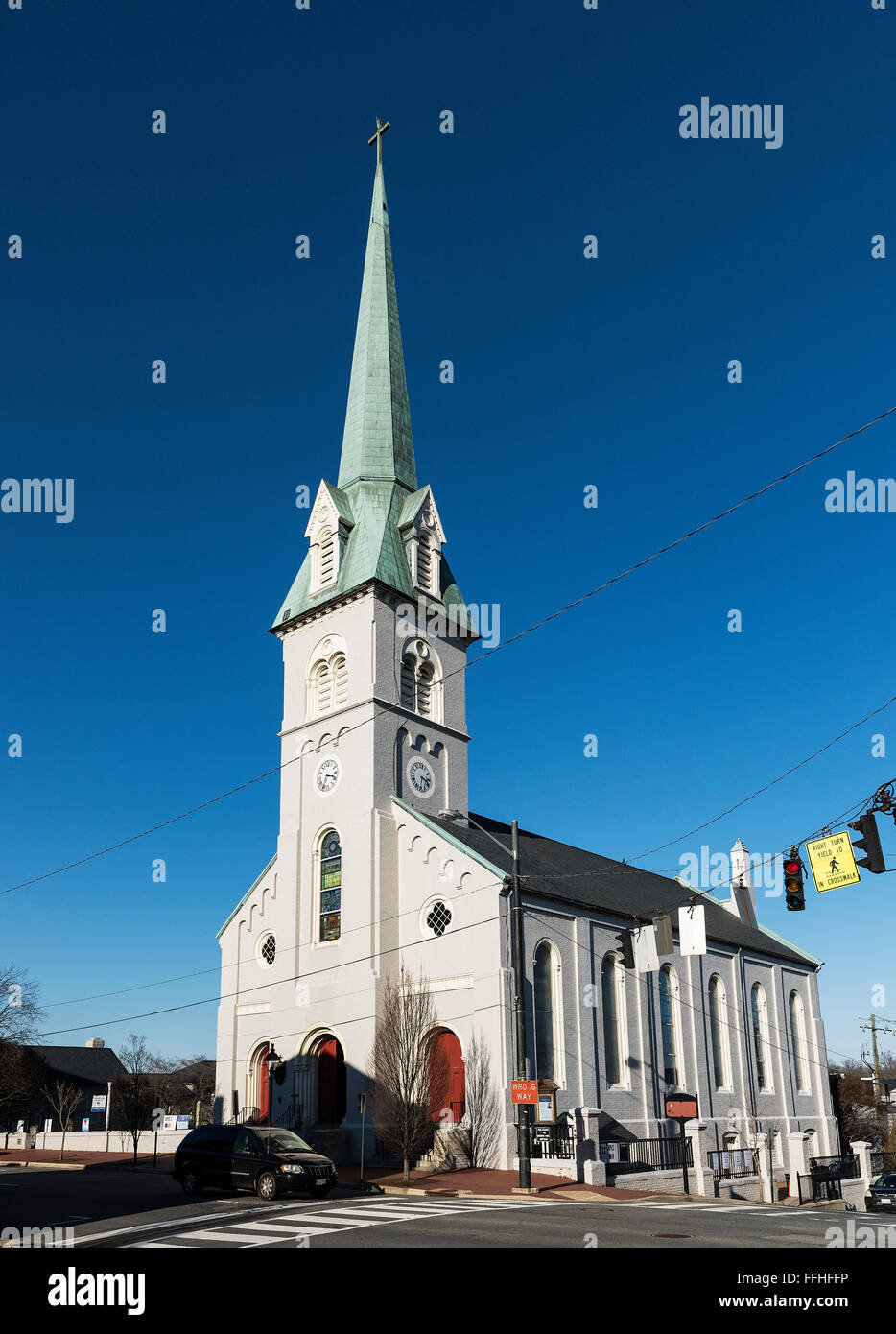 St George's Episcopal Church, Fredericksburg, Virginia, USA - Stock Image