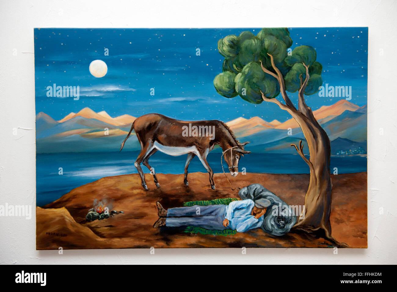 Griechenland, Kreta, Südwesten, Sellia bei Plakias, Bild der Kunstmalerin Marianne Morris - Stock Image