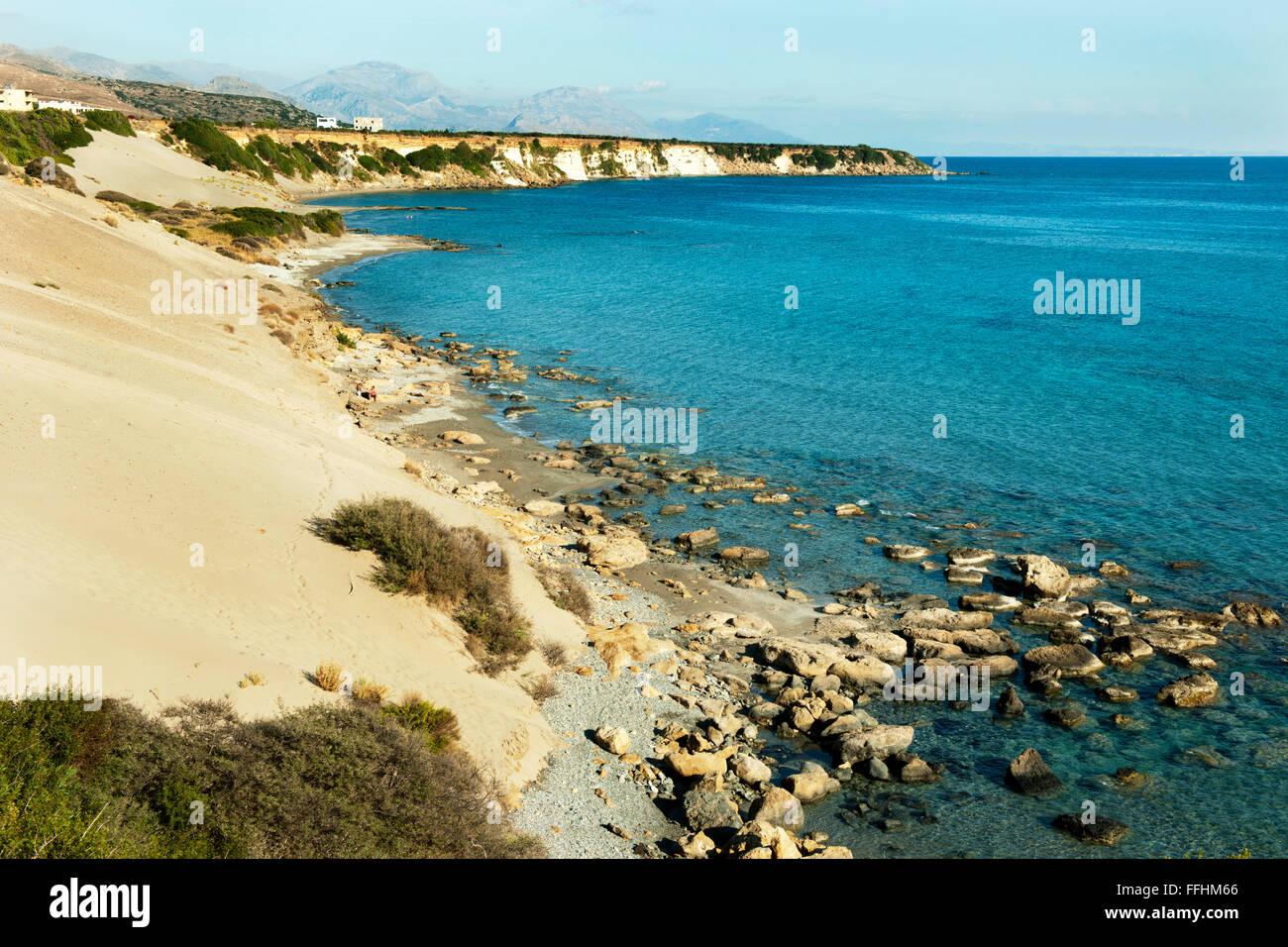Griechenland, Kreta, Dünen-Strand Orthi Ammos, bei Frangokastello - Stock Image
