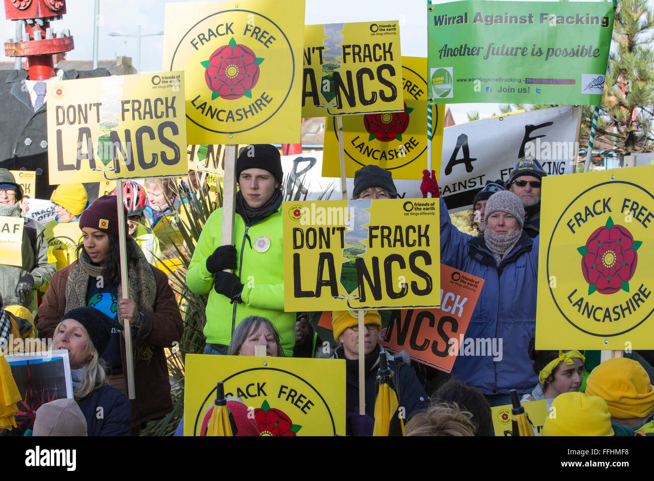 Cuadrilla applied to frack for shale gas in several sites in Lancashire but was turned down by Lancashire County Stock Photo