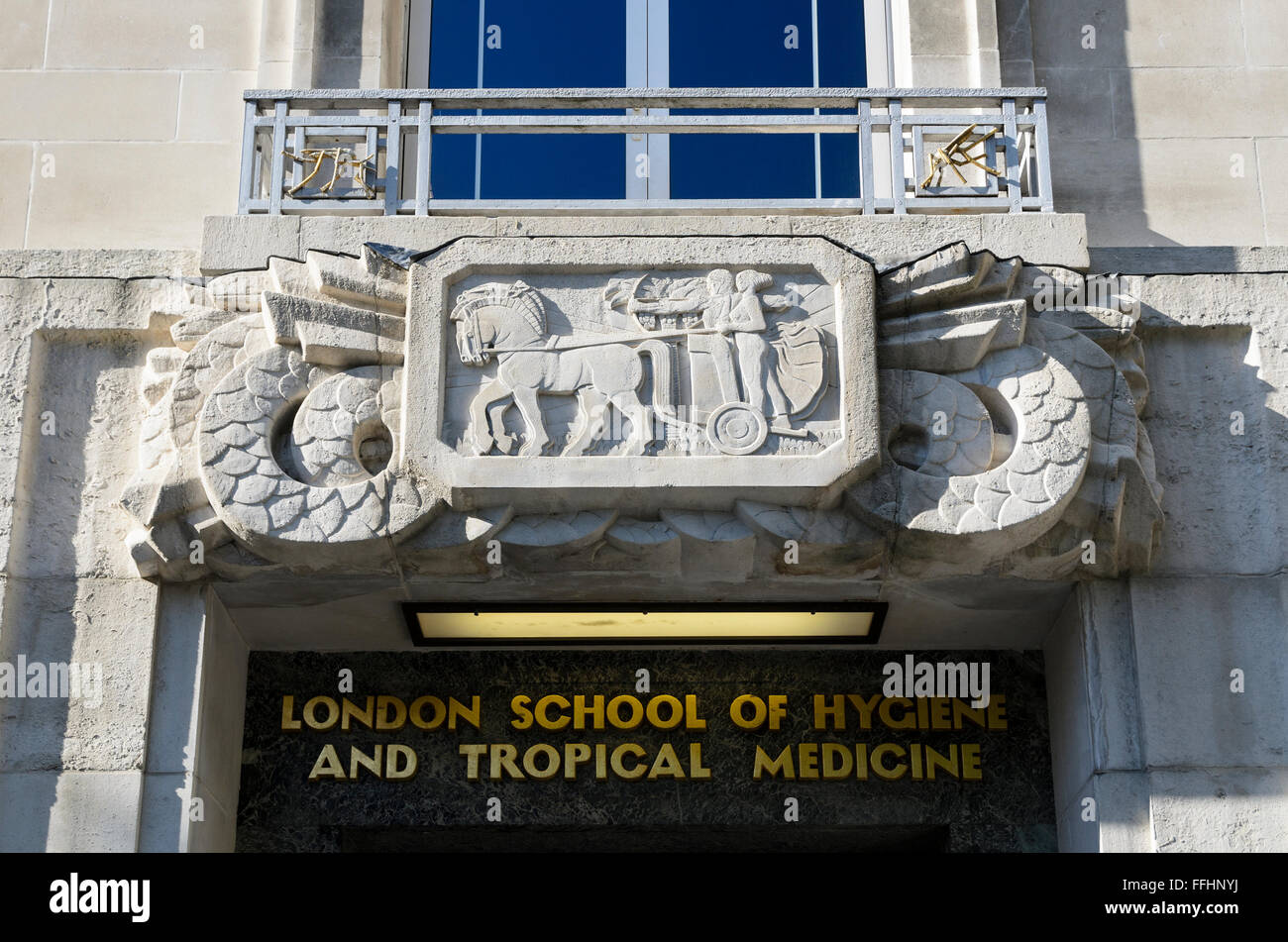 London School of Hygiene and Tropical Medicine, Keppel St, London, WC1E 7HT. - Stock Image
