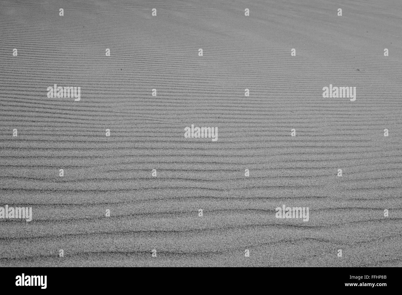 sand Sahara desert in Morocco near Mhamid Stock Photo