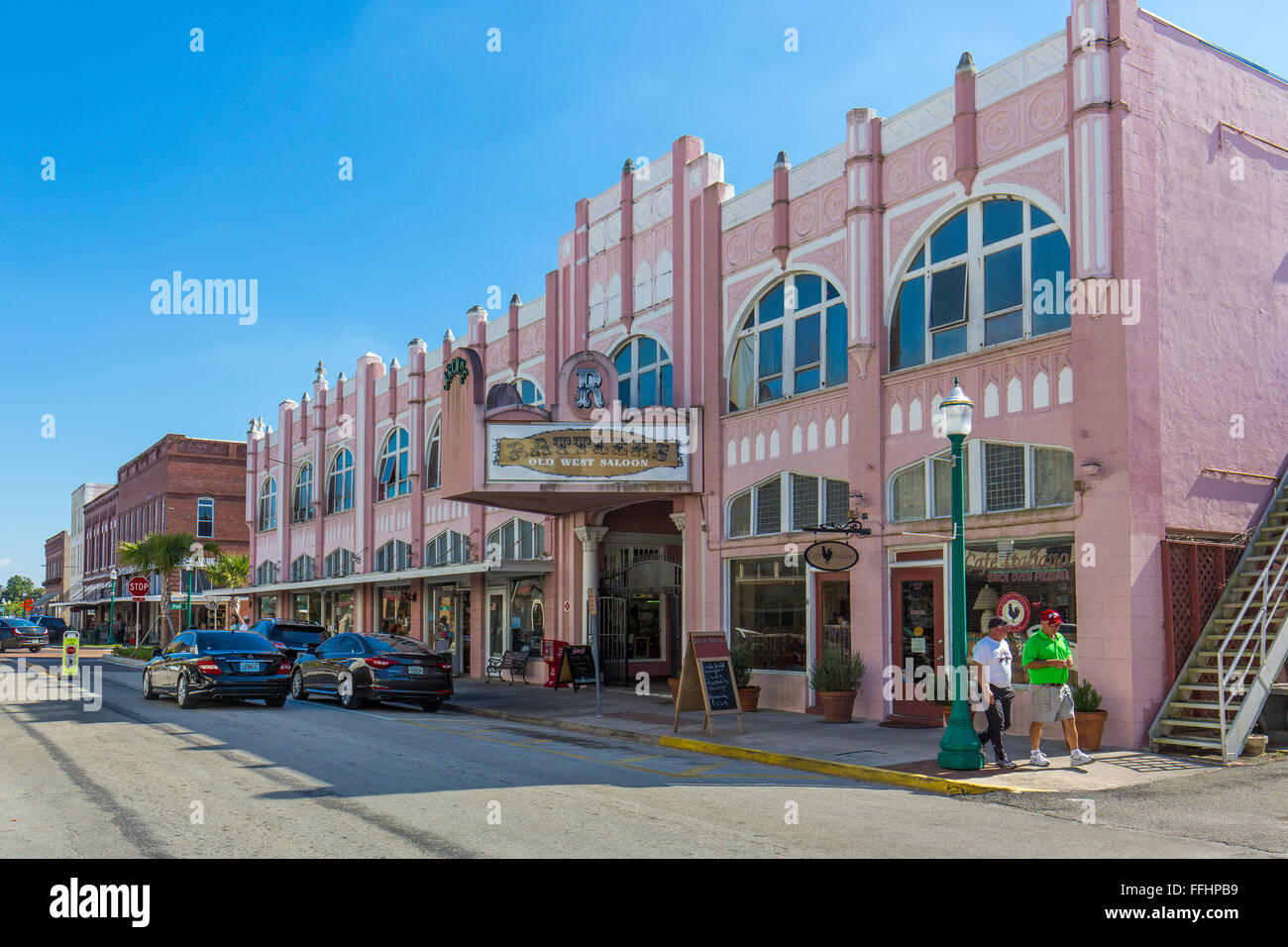 Downtown Historic District listed on the National Register of Historic Places in antique shopping town of Arcadia Stock Photo
