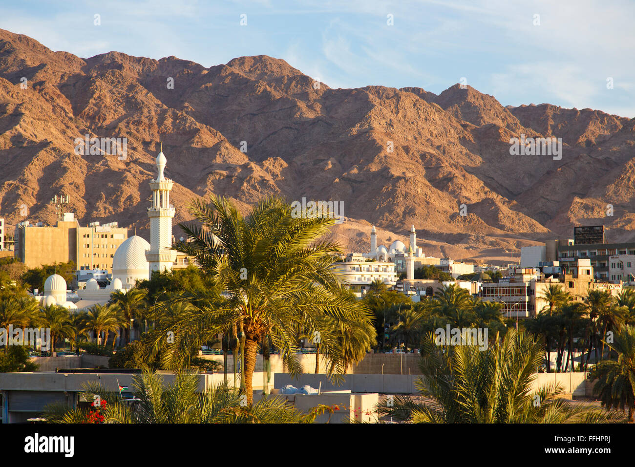 The city of Aqaba, Jordan - Stock Image