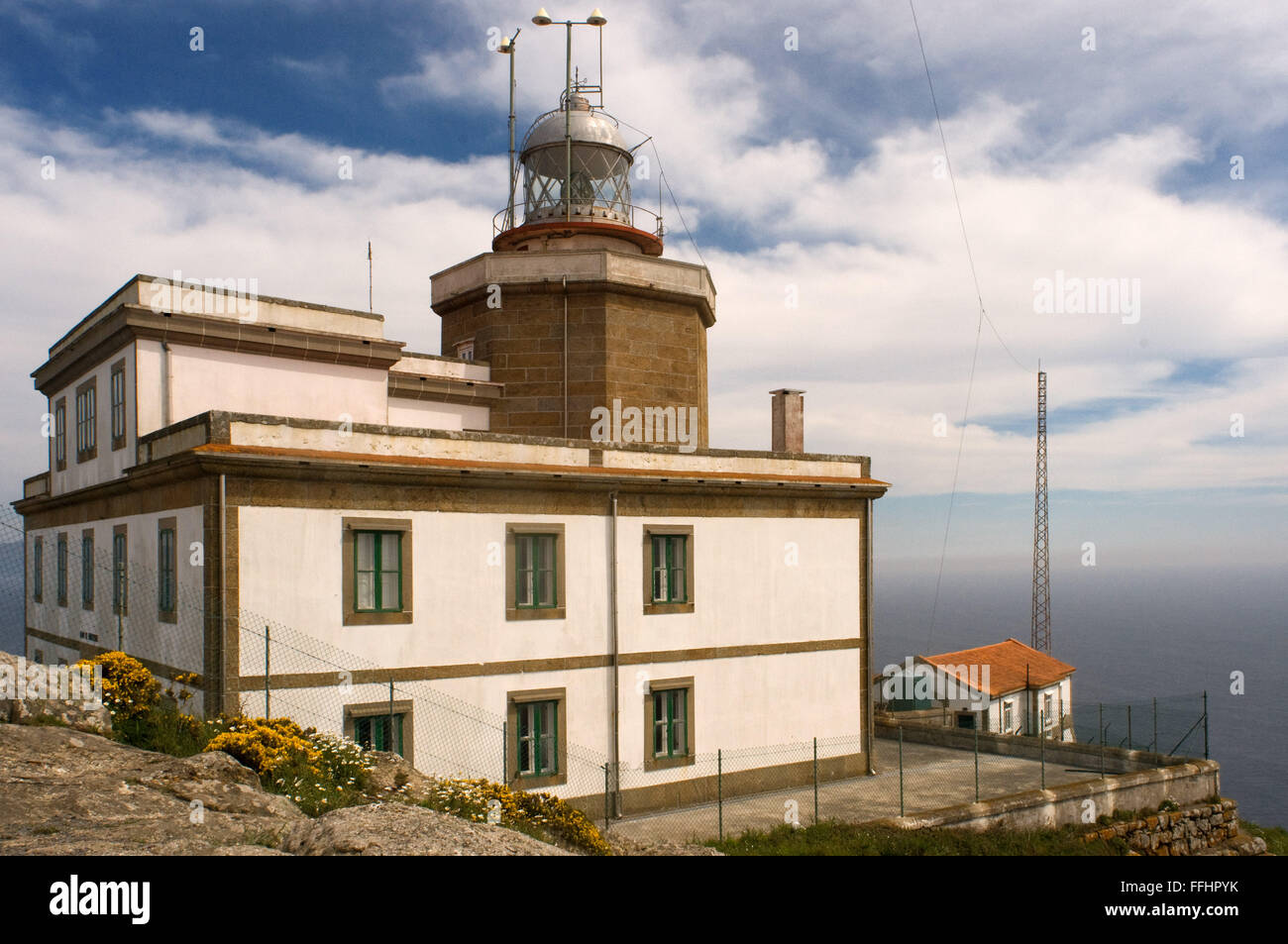 Way of St. James, Jacobean Route. Finis Terrae light house. Fisterre, Finisterre, A Coruña. Finisterre Lighthouse - Stock Image