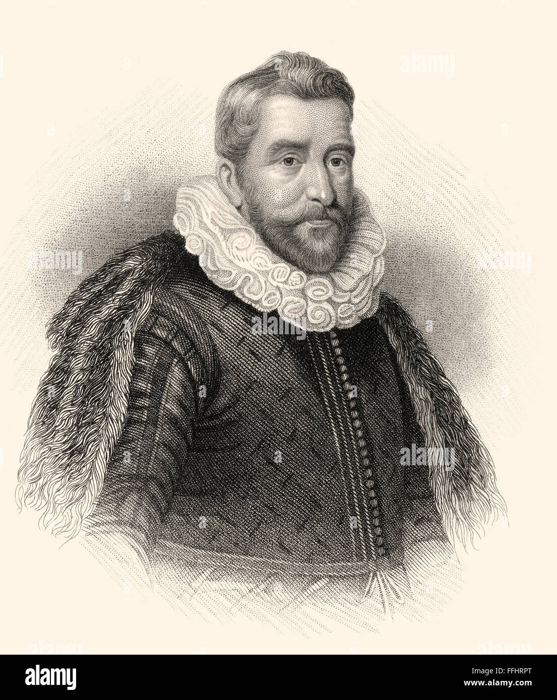 Sir Henry Wotton, 1568-1639, an English author, diplomat and politician - Stock Image