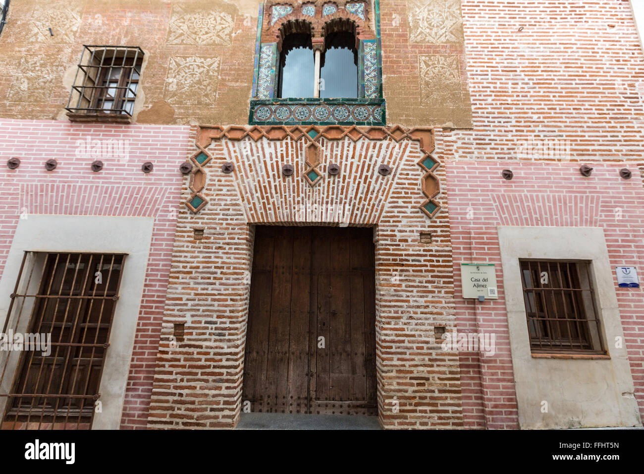 Casa del Ajimez, Mudejar style in Zafra, Extremadura, Spain - Stock Image