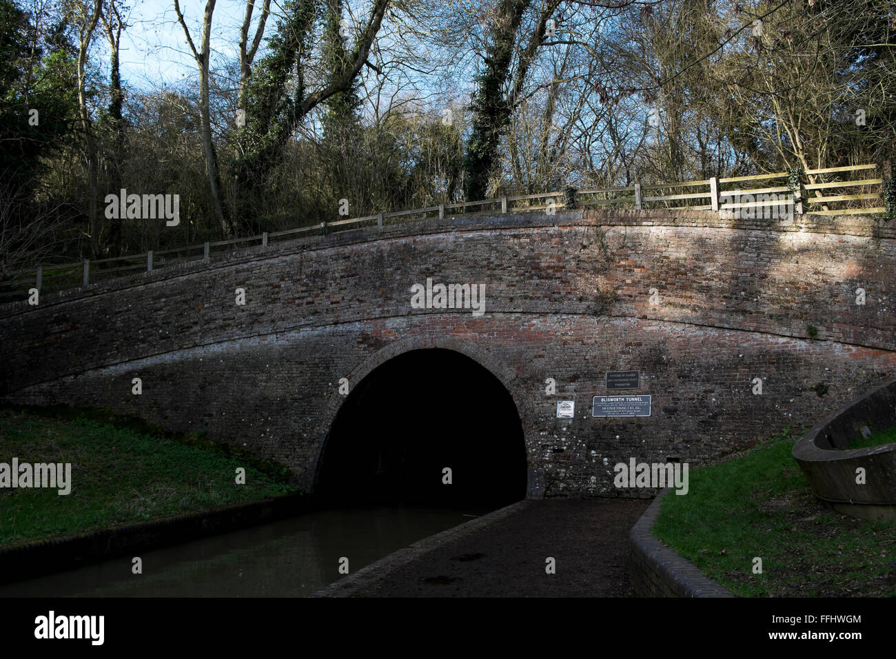 The entrance to Blisworth tunnel - Stock Image