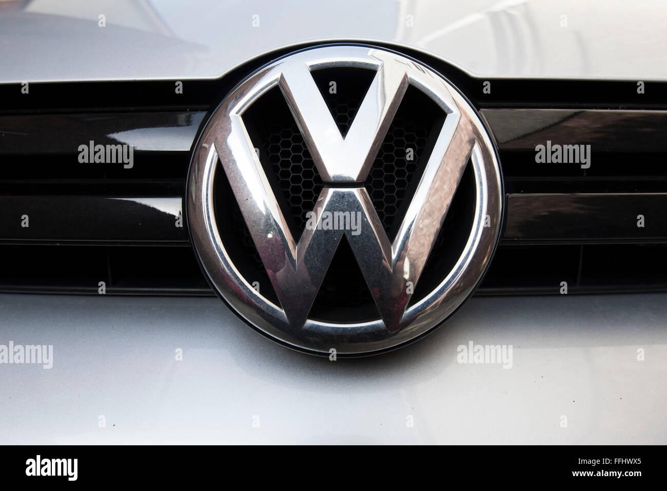 Volkswagen VW car logo brand. - Stock Image
