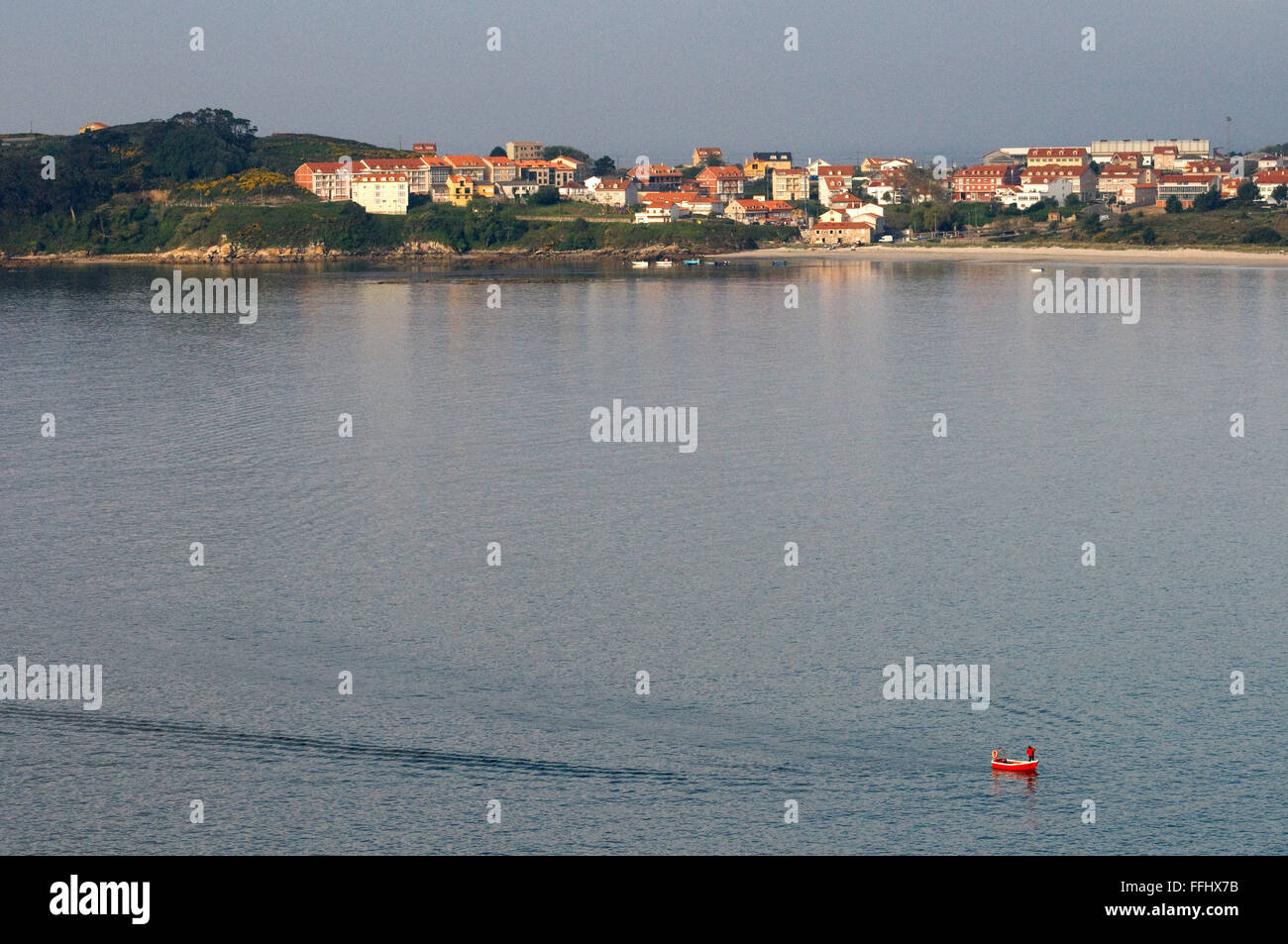 Way of St. James, Jacobean Route. Village on the estuary of Corcubión. St. James's Way, St. James's - Stock Image