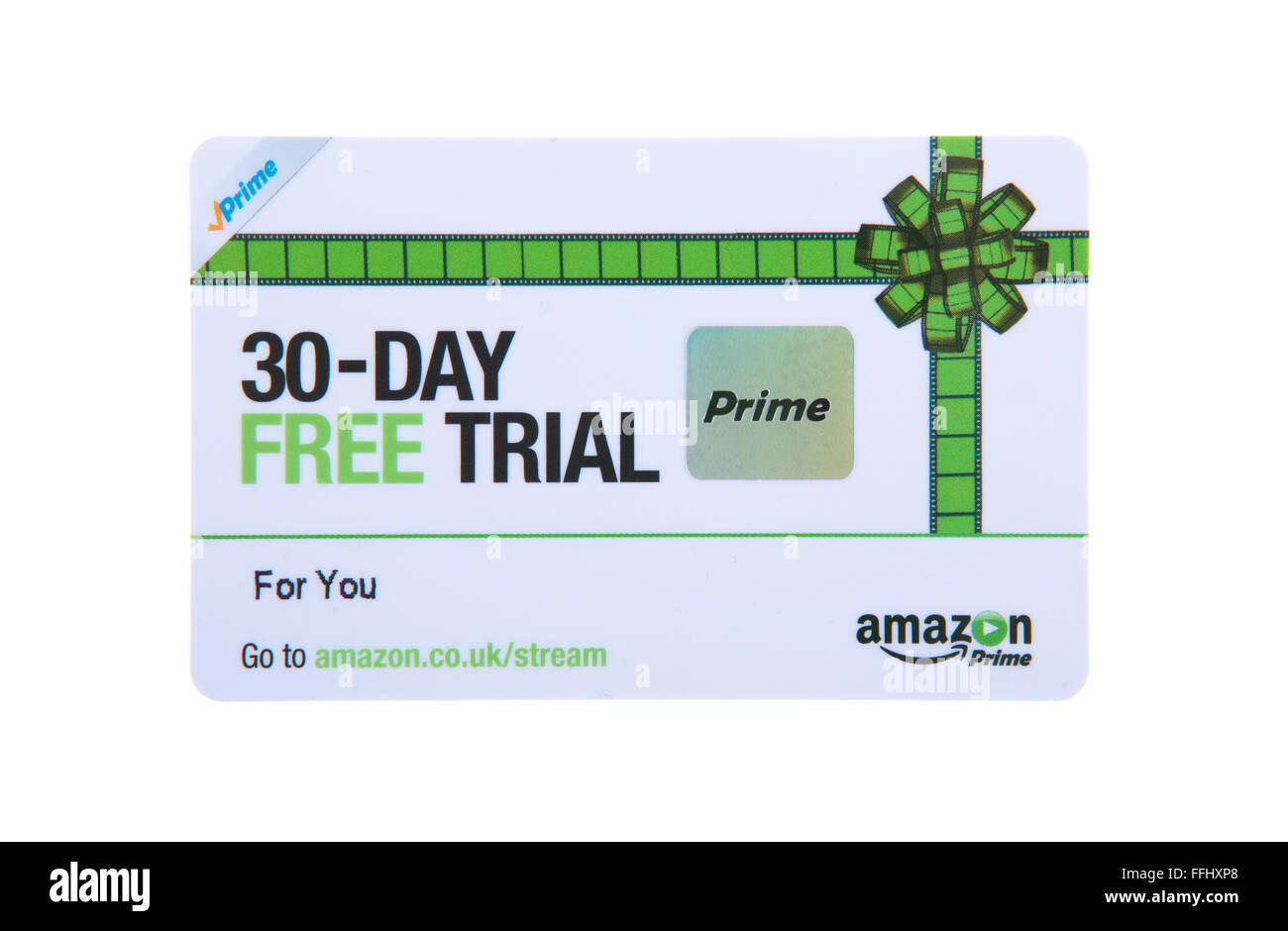 30 Day Free Trial Card For Amazon Prime Stock Photo Alamy
