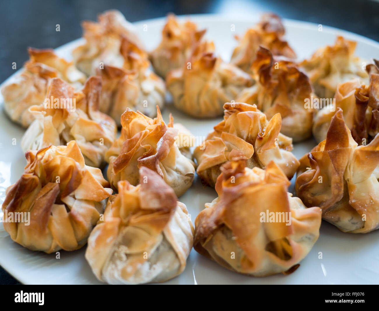Home-made mince tarts - Stock Image