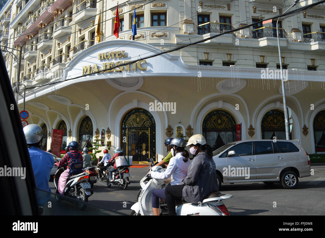 Saigon Viet Nam, Free China 900A. French  influence from 1858 -1955,and finallyUSA1975.Bikes preferred transport. - Stock Image