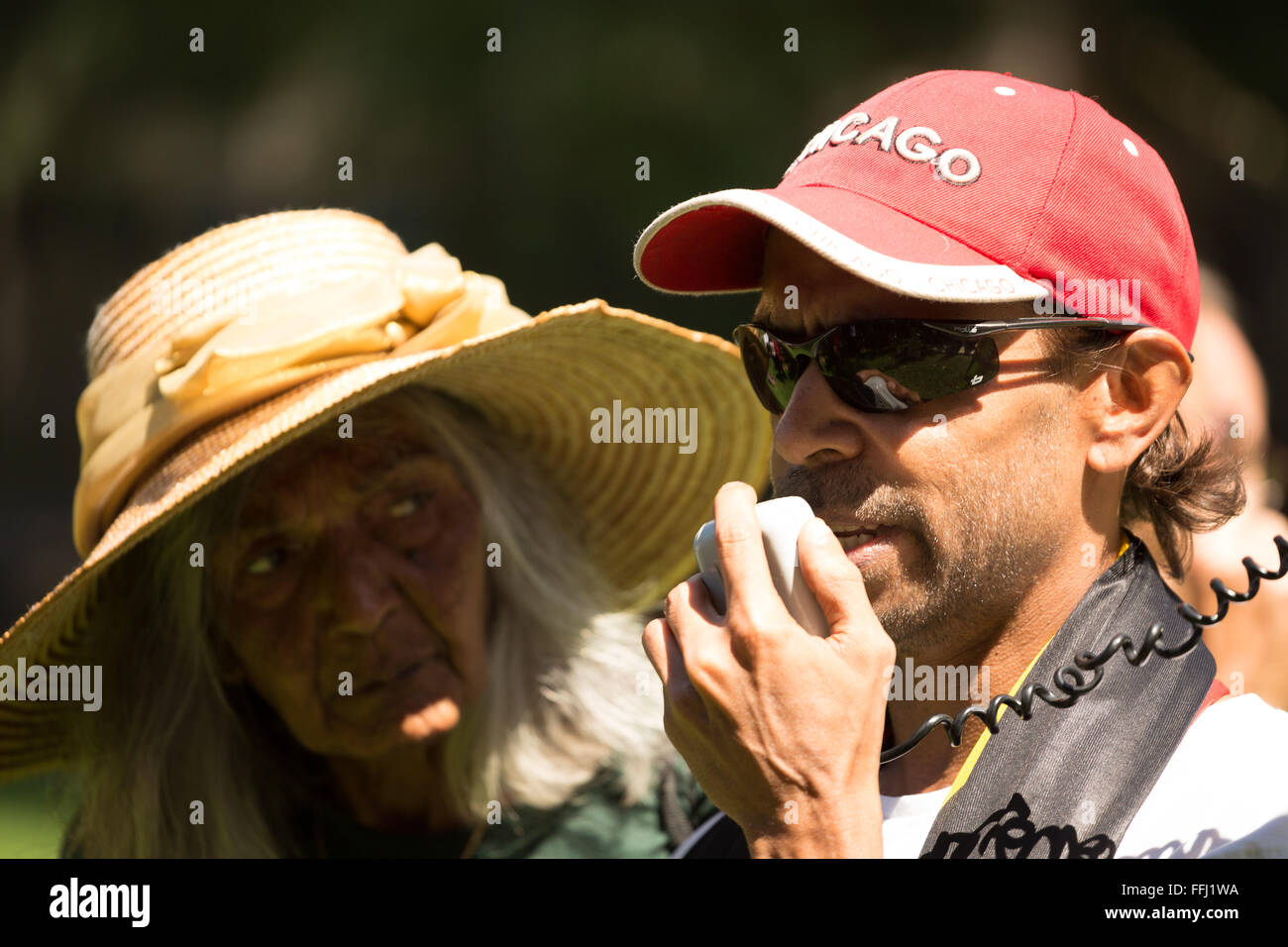 Sydney, Australia. 14th Feb, 2016. Shaun an Aboriginal man from Western Australia told of the recent loss of his - Stock Image