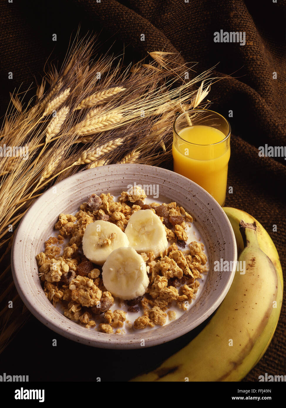 crunchy granola cereal - Stock Image