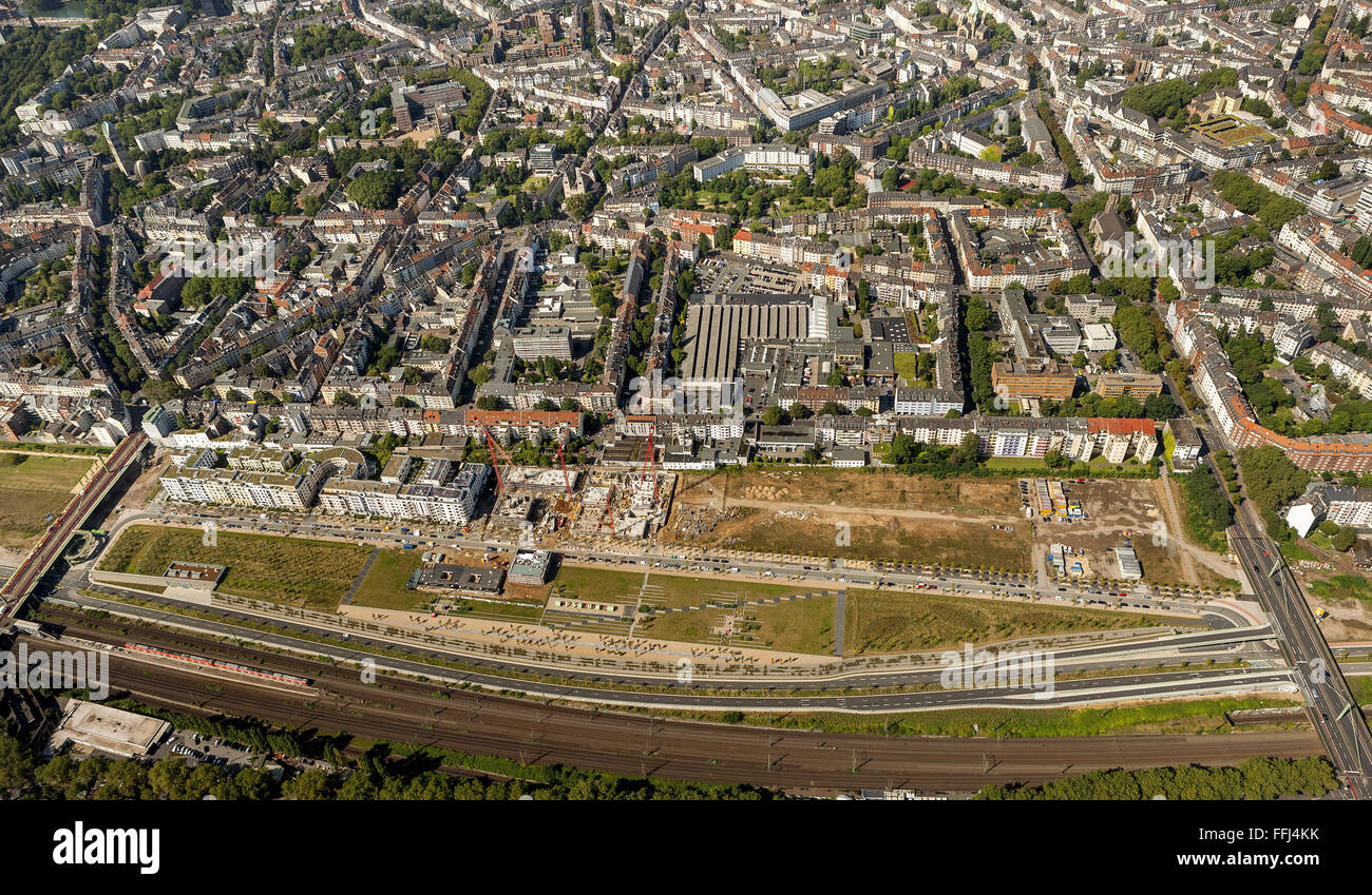 Luftbild, Neue Stadtquartiere Derendorf,  Duesseldorf, Rheinland, Nordrhein-Westfalen, Deutschland, Europa Stock Photo