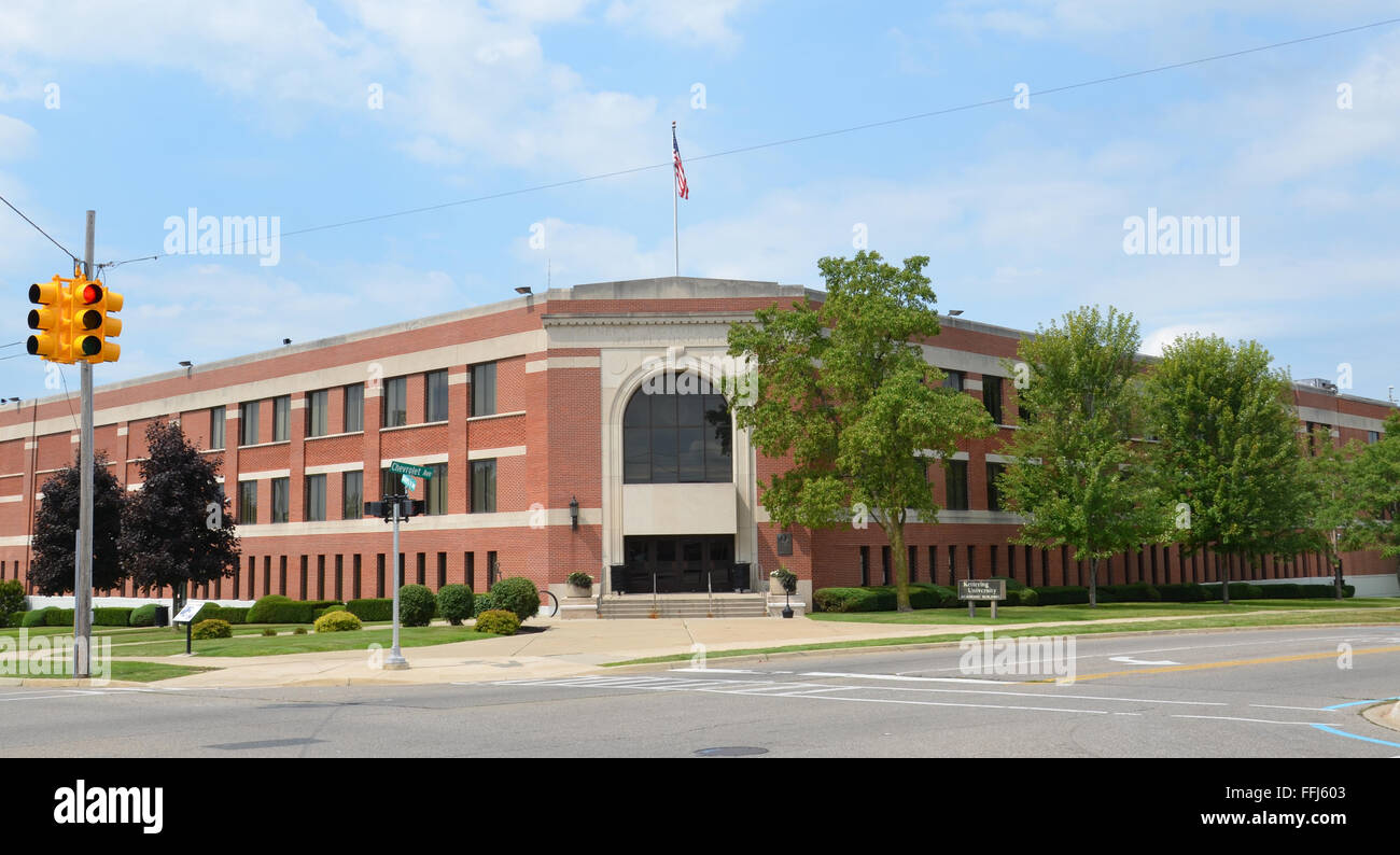 FLINT, MI - AUGUST 22: The Academic Building of Kettering University, shown here on August 22, 2015, houses the - Stock Image