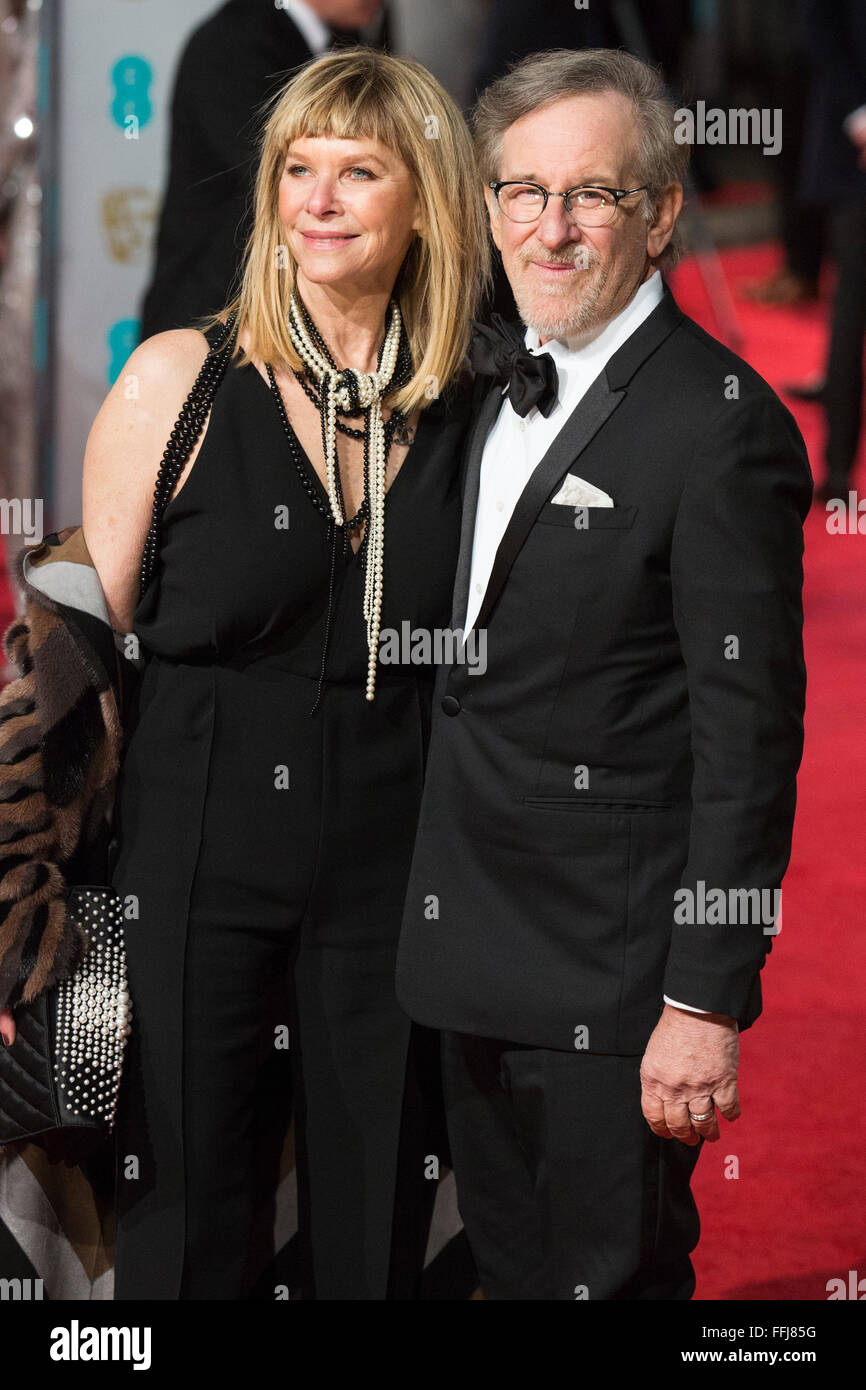 London Uk 14 February 2016 Kate Capshaw And Steven Spielberg Red Carpet Arrivals For The 69th Ee British Academy Film Awards Baftas At The Royal Opera House Credit Vibrant Pictures Alamy Live News