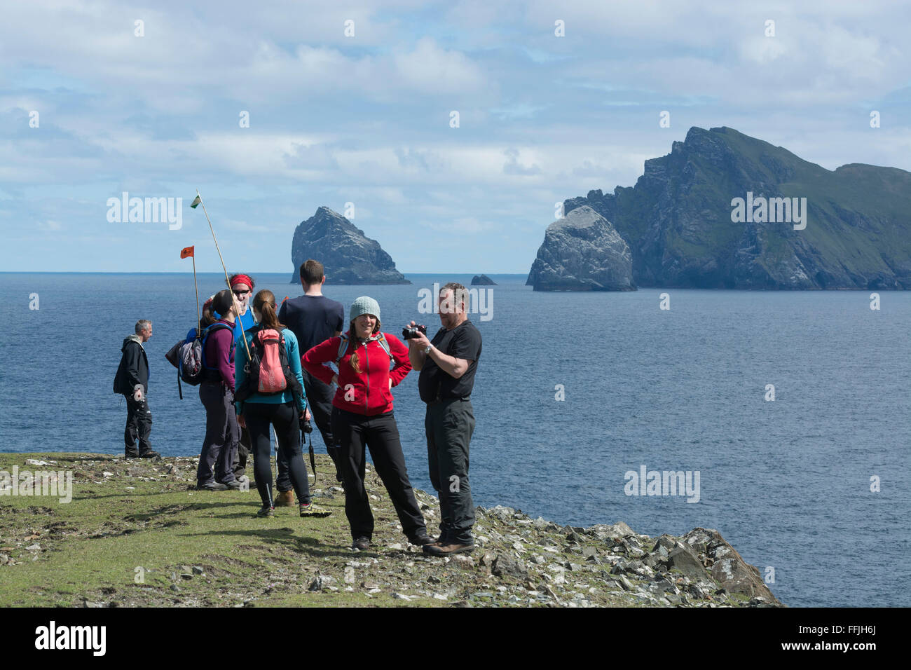 national trust for scotland work party st kilda - Stock Image