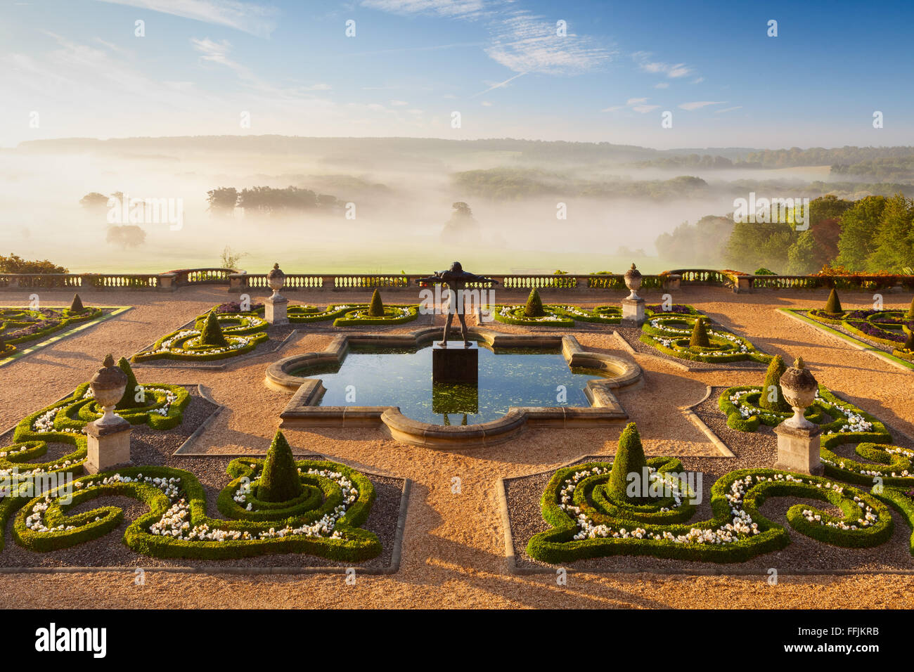 The Terrace Garden at Harewood House in West Yorkshire, UK. One of the ten Treasure Houses of England. - Stock Image