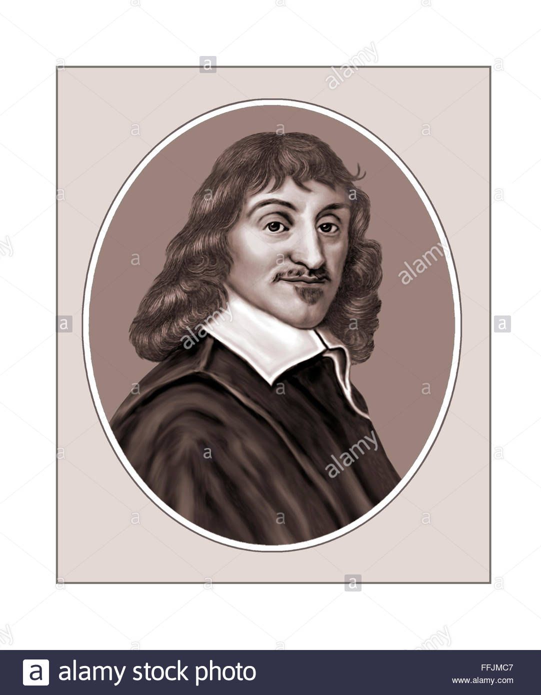 Rene Descartes, Philosopher, Portrait Stock Photo