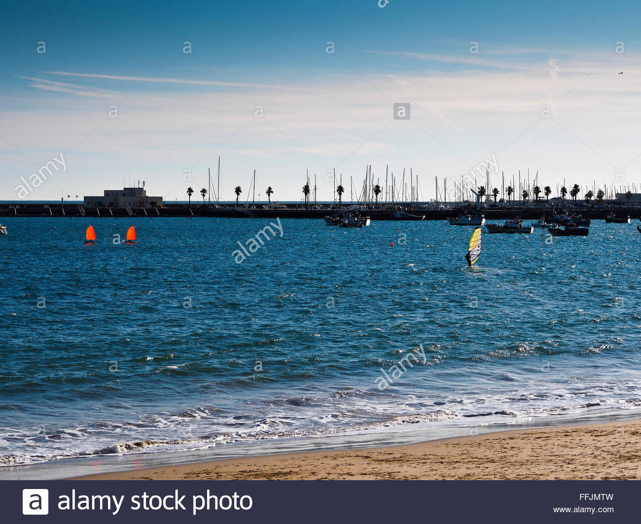 Sailing on Cascais Bay - Stock Image