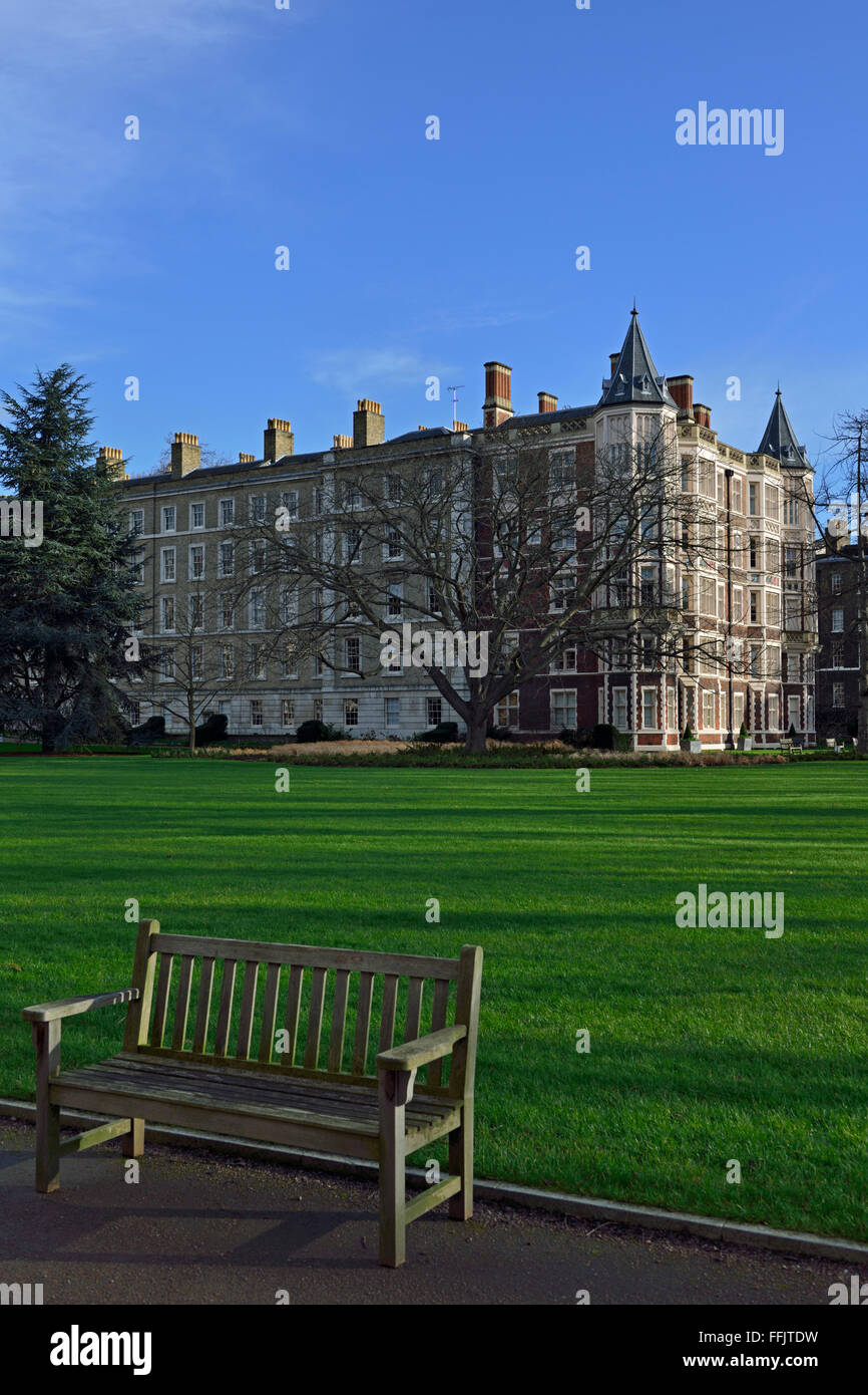 Temple Gardens, The Temple Area, City of London, United Kingdom - Stock Image