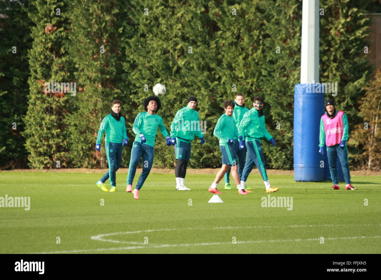 John Terry (English) trains with team mates as Chelsea Football Club prepares for Champ[ions League knock-out action - Stock Image