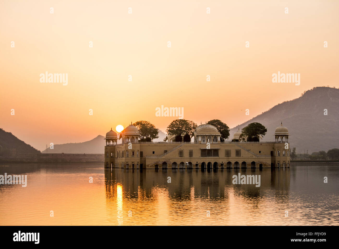 Jai Mahal in the morning. - Stock Image