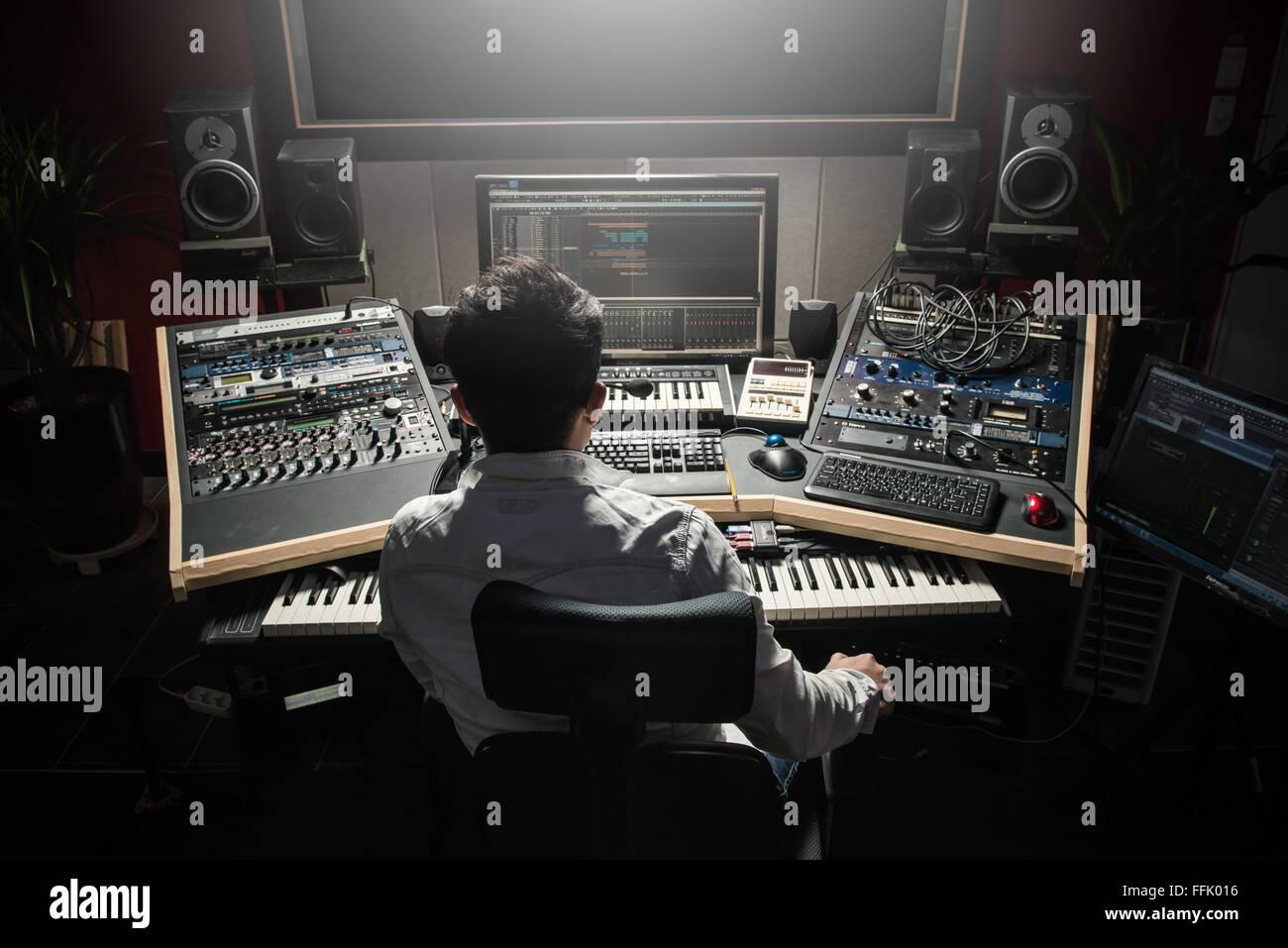Sound engineer Stock Photo