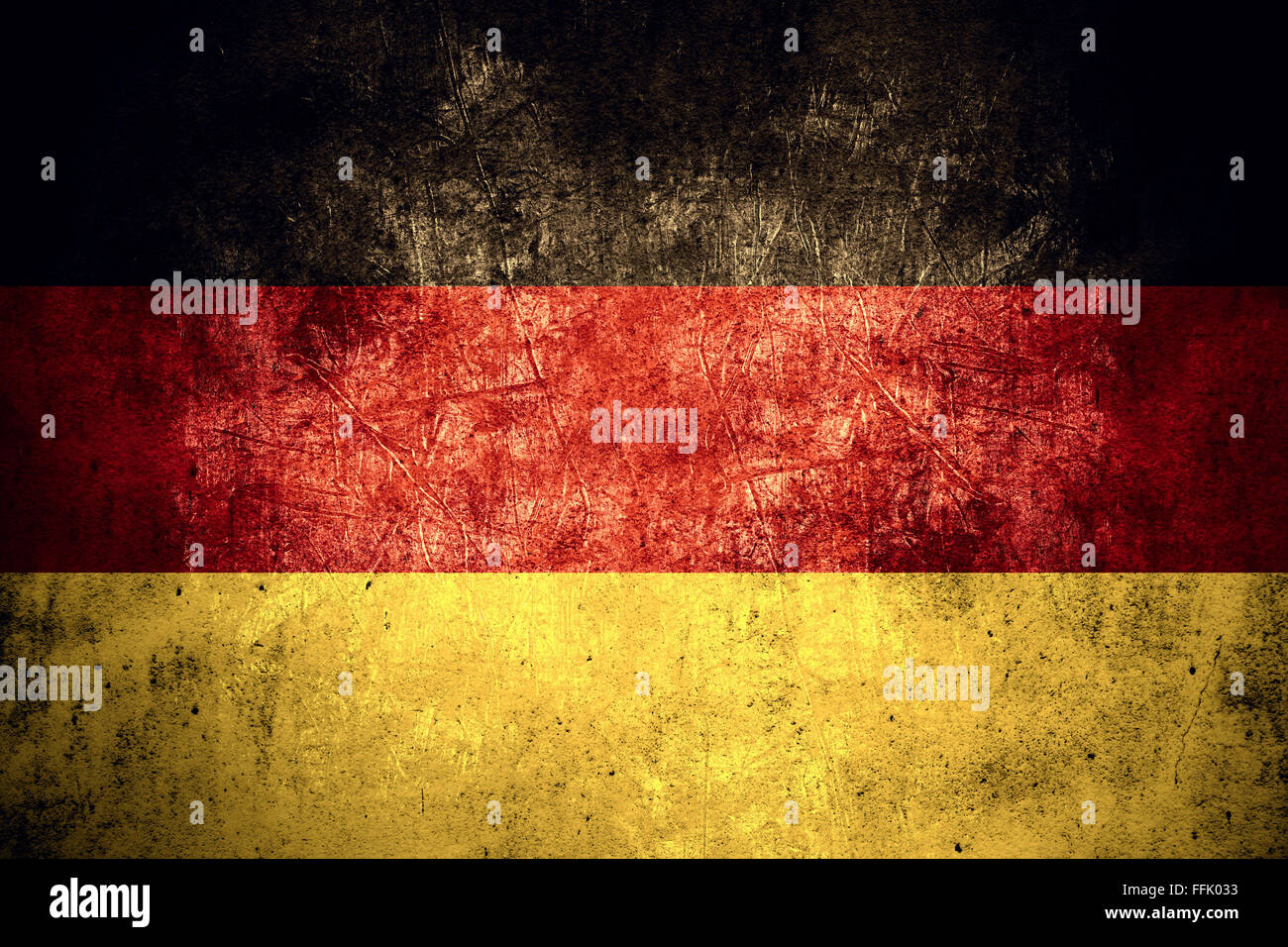 flag of germany or german banner on rough pattern texture vintage