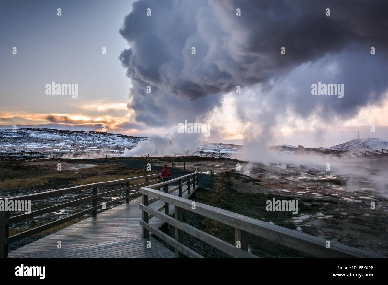 Gunnuhver steam vents - Stock Image